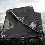 LXJYMX Schwarze Plane Wasserdichte regendichte Sonnenschutz Plane LKW Plane Leinwand Regen Abdeckung reißfest - Markise Leinwand (Farbe : SCHWARZ, größe : 2x2m)