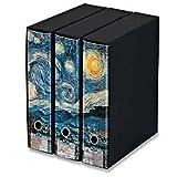 KAOS Set da 3 raccoglitori ad anelli dorso 8 STARRY NIGHT, Van Gogh - Misure Set: 26x34x29 cm