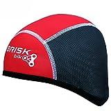 Brisk Helmmütze / Haube für Fahrradfahrer, normale Größe, warm, Thermostoff