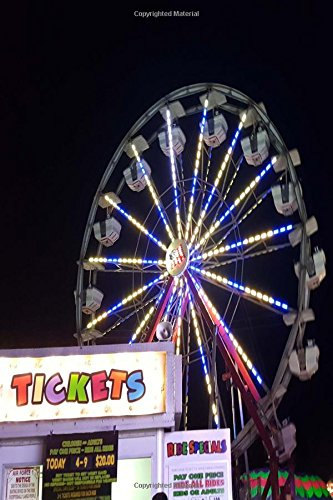 ket Booth Ferris Wheel Night Lights: (Notebook, Diary, Blank Book) (Photo Covers Journals Notebooks Diaries) ()