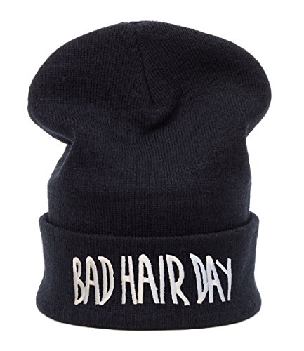 Unisex Uomini donne Berretto Beanie Beanies cappello invernale Cap Bad Hair Day