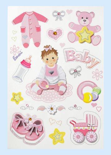 Creapop Sticker * Baby Girl - Taufe - Geburt * Aufkleber 3451327