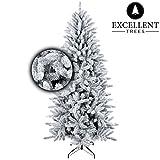 Excellent Trees Künstlicher Weihnachtsbaum Tannenbaum Christbaum Schnee-Effeckt Visby 150 cm mit Schnee