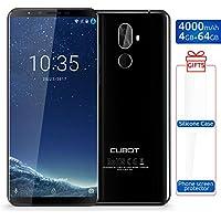 CUBOT X18 Plus Smartphone Libre 4G Dual Sim 5.99'' Android 8.0 Octa-Core 64GB+4GB Dual Cámara Trasera 20+13MP Reconocimiento de Huella Dactilar Bluetooth GPS Batería 4000mah