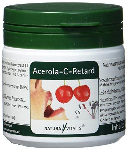 Natura Vitalis Acerola C retard, 120 Kapseln, natürliches Vitamin C -