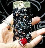 QinMei Zhou Cigarette Caja, Diamond Fashion Nuevo Ladies Cigarette Case Thick Rod Thin Rod Cigarette Box Caja de Almacenamiento Cubierta, Regalo, Intermitente Gris