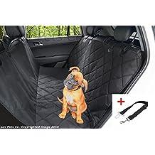 Luv Pets Co. XL Lujo Acolchado para perro asiento Cover- perro hammock- Viaje para asiento de coche, Protector Asiento Trasero Heavy Duty impermeable con orejeras y un cinturón de asiento de seguridad gratuito