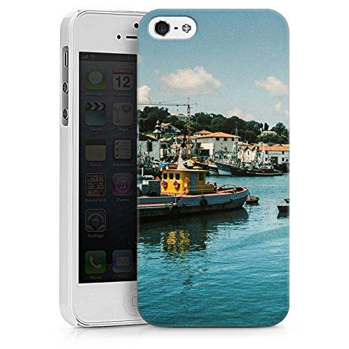 Apple iPhone X Silikon Hülle Case Schutzhülle Hafen Küste Boote Hard Case weiß