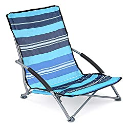 Low Folding Beach Chair Lightweight Portable Outdoor Camping Chairs With Bag