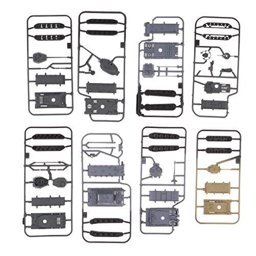 Homyl DIY 4d Modernen Panzer 1: 144 Armee Kampf Panzerwagen Tank Modell Spielzeug Geschenk