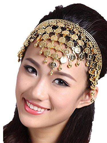Bauchtanz Tribe Kopfschmuck Mit Glocken Münzen Kostüm Zubehör Weiblich Haarnadel Haar Band