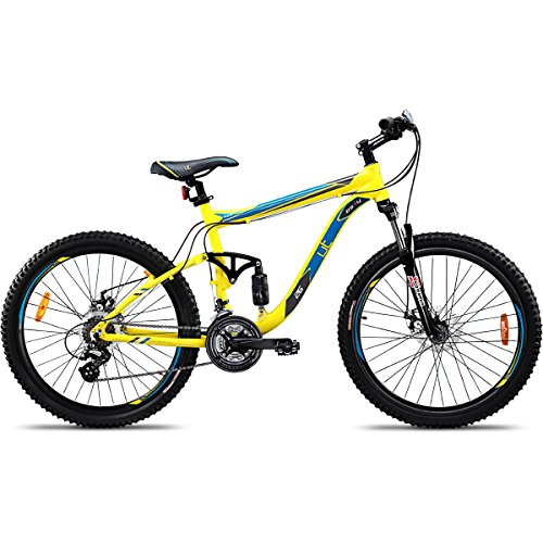UT DS4 21 Speed Adult Cycle, 26-inches (Yellow)