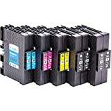 10x Ink cartridges compatible with chip for Ricoh GC 41 , for example, Lanier SG 3100 Series / 3110 DN / 3110 DNW / 7100 dn / Gestetner SG 3100 Series / 3110 DN / 3110 DNW / Gestetner SG K - 3100 dn / NRG Aficio 3100 Series SG / SG 3110 DN / SG 3110 DNW / NRG SG 3100 Series / 3110 DN / 3110 DNW / NRG SG K - 3100 dn / Ricoh Aficio 3100 Series SG / SG 3100 SNW / SG 3110 dn / SG 3110 dnw / SG 3110 n / SG 3110 SFNw / SG 3120 B SF / SG 3120 B SFN / SG 3120 B SFNw / SG 7100 dn / SG K 3100 dn