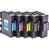 10x Cartucce d'inchiostro compatibili con il circuito integrato per Ricoh GC 41, per esempio, Lanier SG 3100/3110 DN / 3110 DNW / 7100 dn / Gestetner SG 3100/3110 DN / 3110 DNW / Gestetner SG K-3100 dn / NRG Aficio 3100 Series SG / SG 3110 DN / SG 3110 DNW / NRG SG 3100/3110 DN / 3110 DNW / NRG SG K-3100 dn / Ricoh Aficio 3100 Series SG / SG 3100 SNW / SG 3110 dn / SG 3110 dnw / SG 3110 n / SG 3110 SFNw / SG 3120 B SF / SG 3120 B SFN / SG 3120 B SFNw / SG 7100 dn / SG K 3100 dn