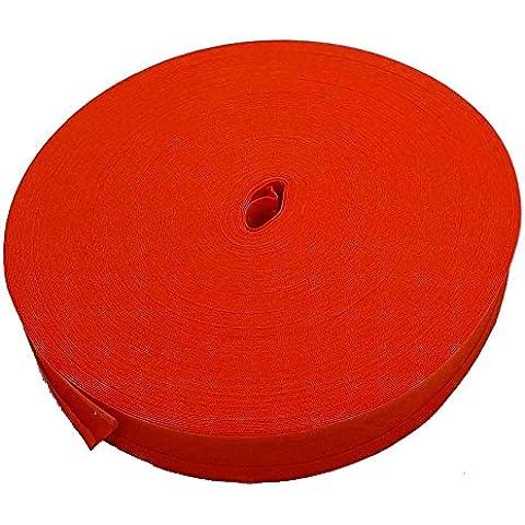 16mm sbieco nastro trim 100% cotone, arancione agrumi–5m