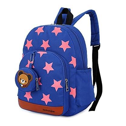51qznhO2TwL. SS416  - Mochila para niños,Bolsos de escuela para niños Mochila de mochila de niño pequeño Bolsas preescolares de guardería Cute Star Bear (3-7 años de edad)