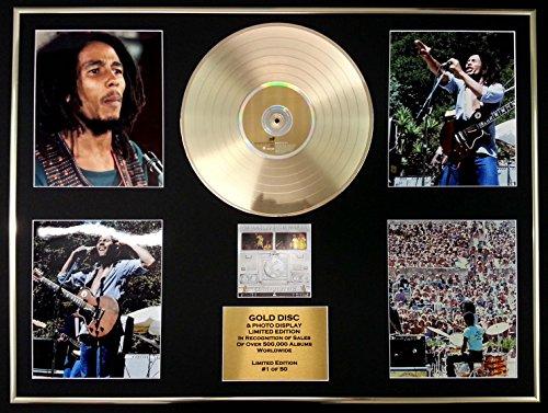 BOB MARLEY/GIGANTIC Goldene Schallplatte/RECORD & Foto-Darstellung/Limitierte Edition/COA/BABYLON BY BUS Platin-musik