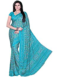 Aaradhya Fashion Women Crepe Saree with Blouse Piece (AFMOSS 0126 _Sky Blue)