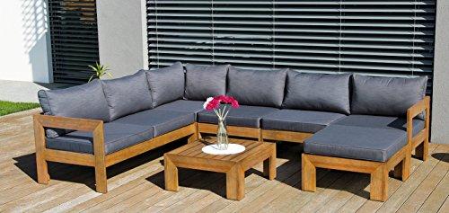 Sitzgruppe Woodbury Lounge für Garten oder Wintergarten flexibel