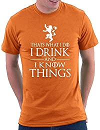 GOT Thats What I Do I Drink And I Know Things Tyrion T-shirt