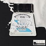 Winsor & Newton - Encre à dessiner 14ml pour Calligraphie - Noir Indien - White - Blanc