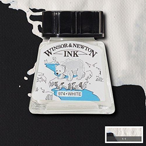 Winsor & Newton Inchiostro per Calligrafia 14ml Nero Indiano e Vasta Gamma Colori - Bianco