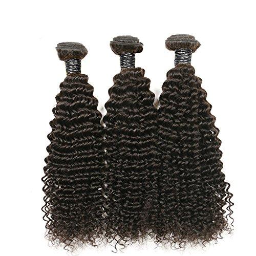 Ohlees® 6A Haarverlängerung Cheap 100% virgin brasilianisches Menschliches Haar Kinky Curly Haar Extensions 3 Bundles Natürliches Schwarz (#1b)
