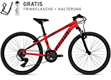Ghost Kato Kid 2.4 AL U 24R Kinder Mountain Bike 2018 (32cm, Neon Red/Night Black)