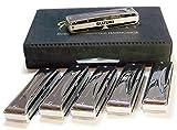 Suzuki SU-MR-350S Set de 6 harmonicas 10 trous / 20 tons