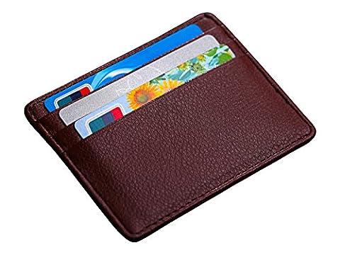 Edler Kartenhalter / Kartenetui / Kreditkartenetui / Etui / Geldbeutel / Geldbörse / Halter / Tasche für Visitenkarte / EC -Karte / Geldschein / Geldklammer - Accessoire + Geschenk - Leder