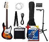 Rocktile Groover's Pack JB E-Bass Set II Sunburst Groover's Pack + Rockt. Stimmgerät + CC Ständer