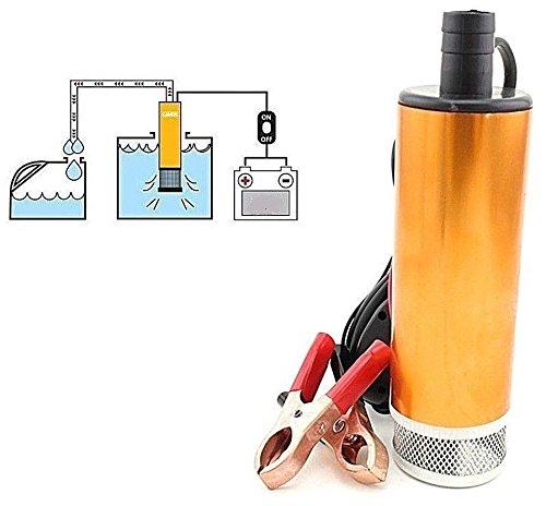 Topolenashop Pompa Travaso Liquidi Elettrica Carburante Acqua Olio Diesel 12V Auto B