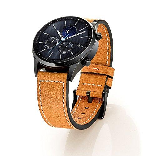 aresh per Samsung Gear Frontier Classic Accessori Cinturino in vera pelle, cinturino di ricambio per Gear S3Frontier/Classic Smart Watch
