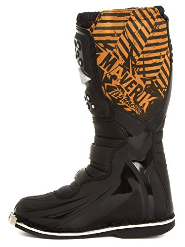 Fly Racing Motocross-Stiefel Maverik Schwarz Gr. 46 - 5