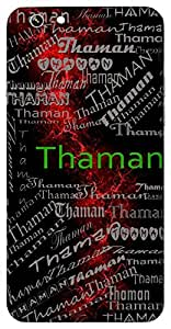 Thaman (Name Of A God) Name & Sign Printed All over customize & Personalized!! Protective back cover for your Smart Phone : Apple iPhone 4/4S
