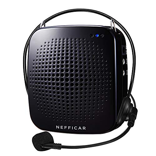 Nefficar Portable LoudSpeaker Voice Amplifier with Microphone for Teachers, Instructors, Emcees, Tour Guides and Trainers - Upgraded Waist Clip (Wired)