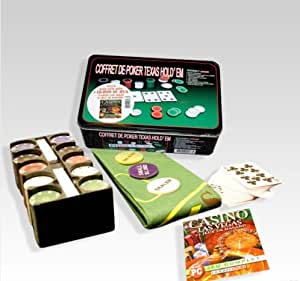 Coffret Jeu Poker 200 jetons en Euros + kit poker pro