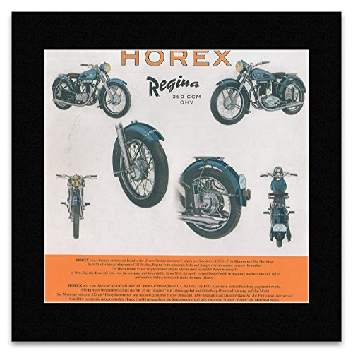 HISTORIC MOTOTRCYCLES - Horex Regina 350 CCM OHV Matted Mini Poster - 28.5x29.5cm -