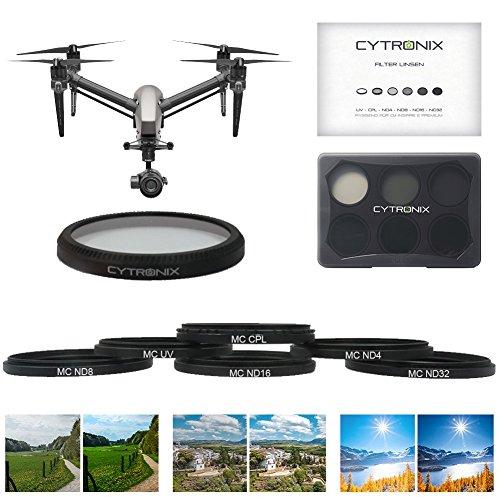 Filter Set Drone Quadcopter Polarisator Linsenfilter Kits 6 Set für DJI Inspire 2 Premium X5 X5R UVA UV CPL ND4 ND8 ND16 ND32 Multi beschichtete