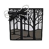 Stanzschablonen aus Metall, Motiv: Wald mit Blumen, zum Basteln von Fotos, Scrapbooking, Album, Papier, Karten, Kunstprägung wald