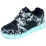 AFFINEST Kinder LED Schuhe USB Aufladen Leuchtend Sport Schuhe Sneakers Blitzen Stil Schuhe für Jungen Mädchen