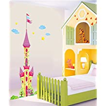 UberLyfe Cinderella Castle Wall Sticker Size 4 (Wall Covering Area: 180cm x 95cm) - WS-732