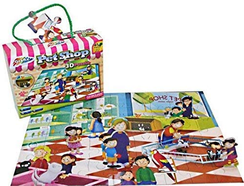 Grafix Childrens 45 Piece Slot In 3D Pieces Puzzle Shopping Centre Christmas Stocking Filler