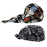 Sharplace 2 Stück Kochmütze Bistromütze Mütze Koch Berufsbekleidung Bistromütze Bistrohut Bandana Kopftuch - Farbe 1, wie beschrieben