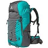 Coreal Damen und Herren Reise Wandern Rucksack trekkingrucksack 50L Cyan
