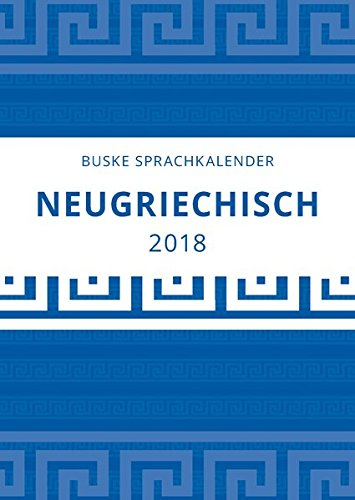 Sprachkalender Neugriechisch 2018