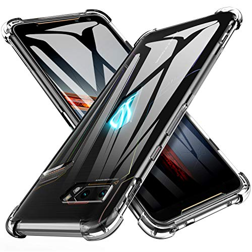 iBetter Slim Thin Protettiva per ASUS ROG Phone 2 Cover,Morbido TPU,Antiurto Morbida Silicone Trasparente Custodia, per ASUS ROG Phone 2...