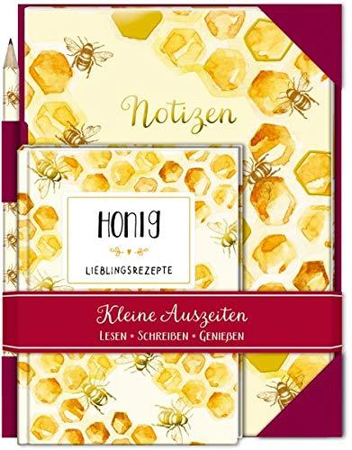 Kleine Auszeiten: Honig: Buch mit Notizheft und Bleistift