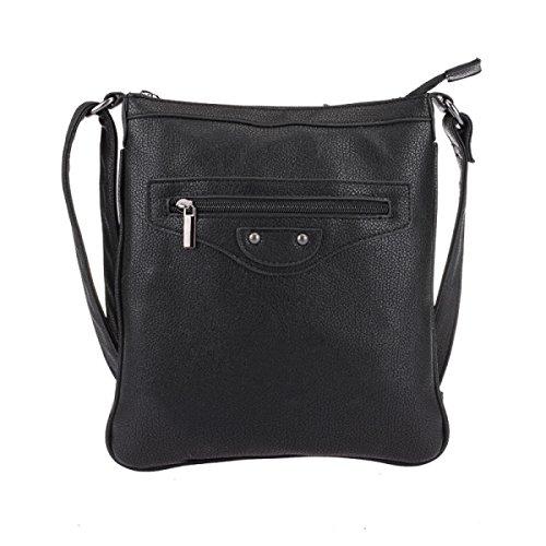 Damen Europa Und Die Vereinigten Staaten Schulter Wildes Trendy Kleines Quadratisches Paket Black