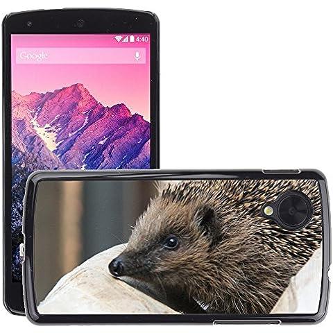 GoGoMobile Carcasa Funda Prima Delgada SLIM Casa Case Bandera Cover Shell para // M00125186 Spur Riccio animali a punta // LG Nexus 5
